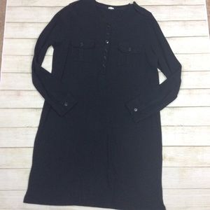 J crew front button ribbed dress.
